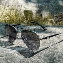 CAPONI Photochromic Sun Glasses Polarized UV Cut Branded Design Light Eyewear Avation Style Driving