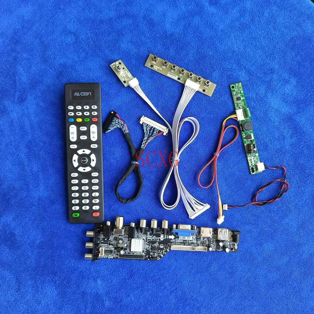 عدة رصد لوحة تحكم 1920*1080 HDMI-متوافق USB VGA AV إشارة رقمية LVDS 30 دبوس ل M215HNE/MT215DW01/MT215DW02 LED