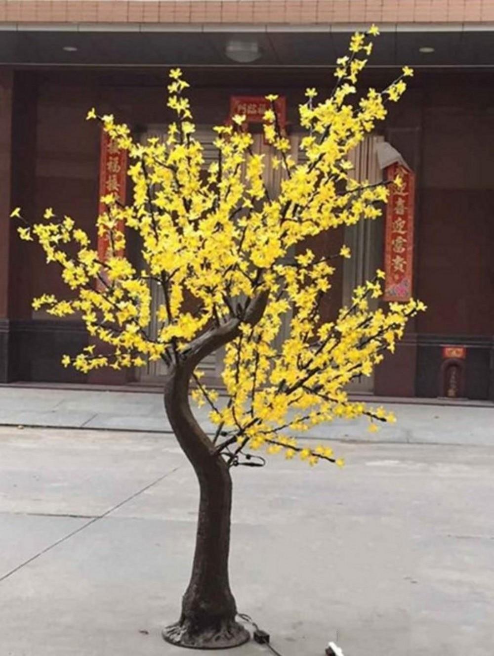 Luz LED para tronco de árbol Natural, flor de cerezo Artificial, luz de Navidad de 1,5 m ~ 2,5 m, altura de 110/220V, impermeable para uso en exteriores