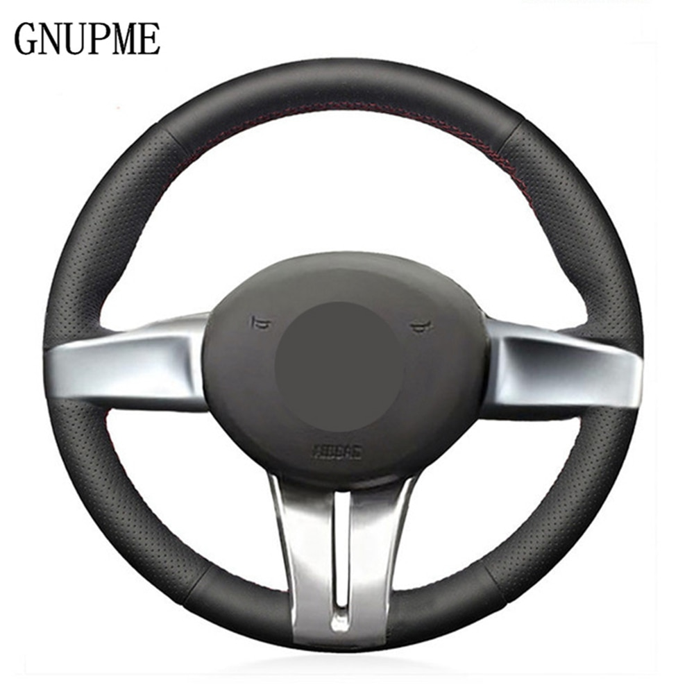 Mão-costurado preto couro genuíno cobertura de volante do carro para bmw z4 e85 (roadster) 2003-2008 e86 (coupe) 2005-2008