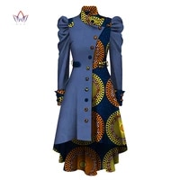 trench femme 2021 full sleeve african clothing dashiki coat women single breasted top african style long sleeve outwear wy5891