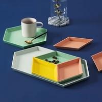 nordic geometric storage fruit tray creative desktop combination jewelry tray tray multi function storage melon seed fruit tray