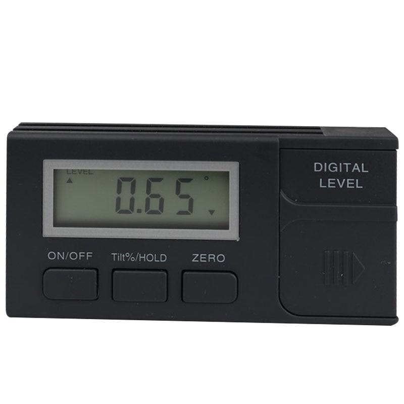 Digital portátil inclinômetro transferidor mini magnético inclinômetro caixa de plástico nível defletor magnético base digital medidor de ângulo