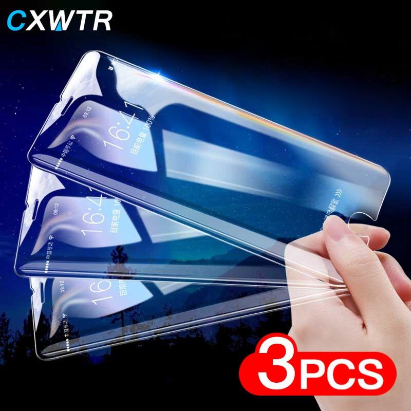 3Pcsr de vidrio en la para iPhone X XR XS 11 Pro Max de vidrio templado para iPhone 7 7 6 6s Plus 5 5S SE Xs Max Protector de pantalla película