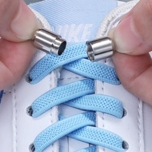 Flat Elastic shoelaces for men and women Round capsule metal lock No tie shoelace Sports outdoor wal