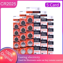 25Pcs 100% Orignial pila CR2025 Button Batteries Electronic Products Cell Replace ECR2025 BR2025 DL2