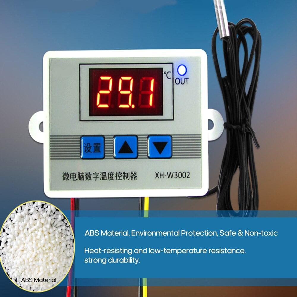 XH-W3002 controlador de temperatura de microordenador Digital Led inteligente Mini interruptor del termostato con sonda del Sensor resistente al agua
