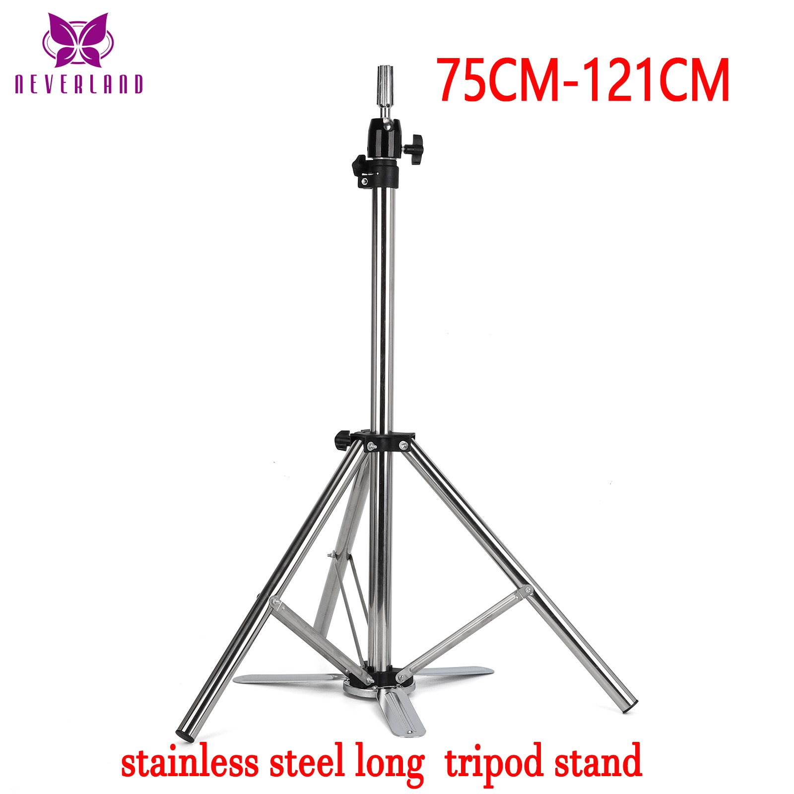 Adjustable Mannequin Tripod Stand for Wig Display Making, stainless steel with pedals e Hairdressing Head Holder Stand wholesale 10pcs hat display stand stainess steel cap display rack adjustable metal men women s wig hairpiece holder showing prop