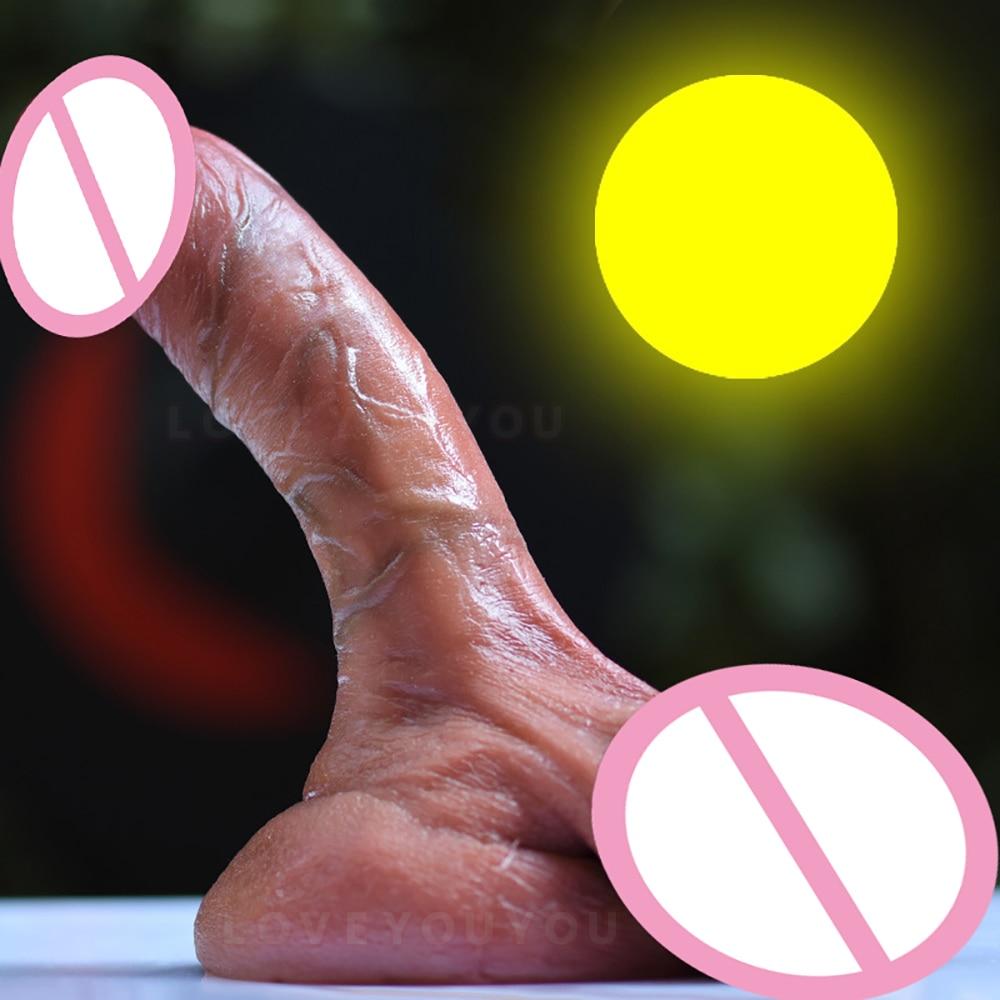 شعور الجلد واقعية ضخمة دسار الخصية الإناث الاستمناء سيليكون القضيب G بقعة تحفيز شفط كأس كبير وهمية ديك الجنس لعب