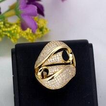 Trois couleurs couleur argent anneaux de mariage matériel Cubiz Zircon pierre pour ensemble de bague de mariage