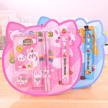 Cartoon character stationery gift box eight-piece suit student supplies cartoon creative holiday gif