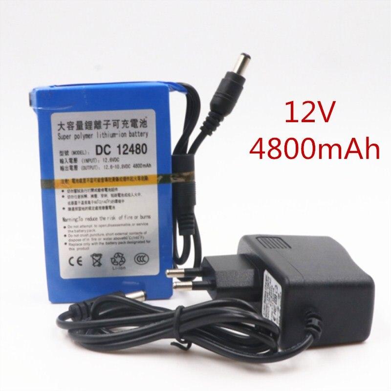 Calidad 2020 batería de iones de litio súper recargable portátil DC 12V 4800mAh con enchufe