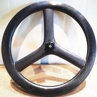 2020 new 20%e2%80%9c 451 26mm clinchertubeless carbon 3 spoke wheels bicycle carbon road track fixed tri spoke wheels disc brake wheel