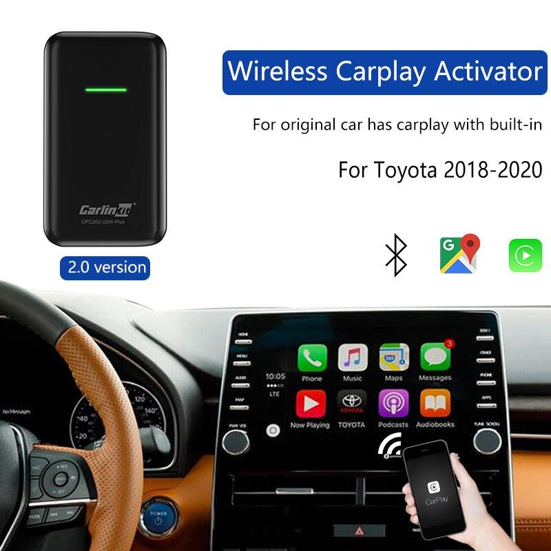 Carlinkit 2,0 Версия Беспроводной адаптер Carplay2air ключ для Toyota оригинальный автомобиль имеет проводную CarplayBuilt-in проводную к беспроводной