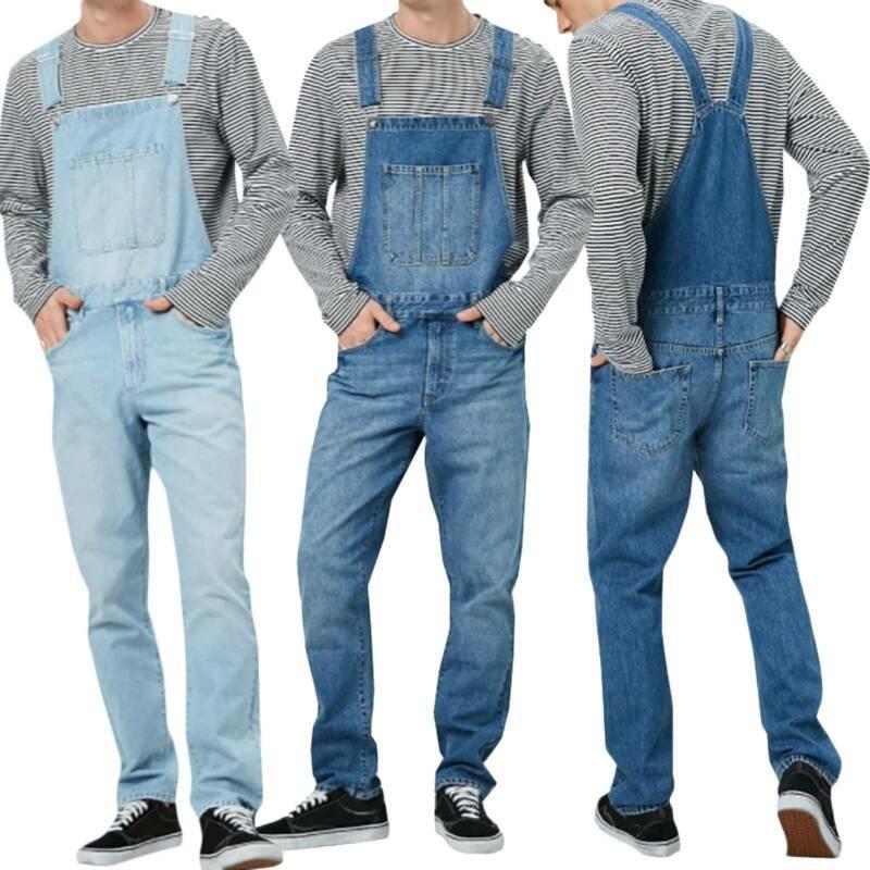 Мужские джинсы джинсовые комбинезоны Комбинезоны Брюки