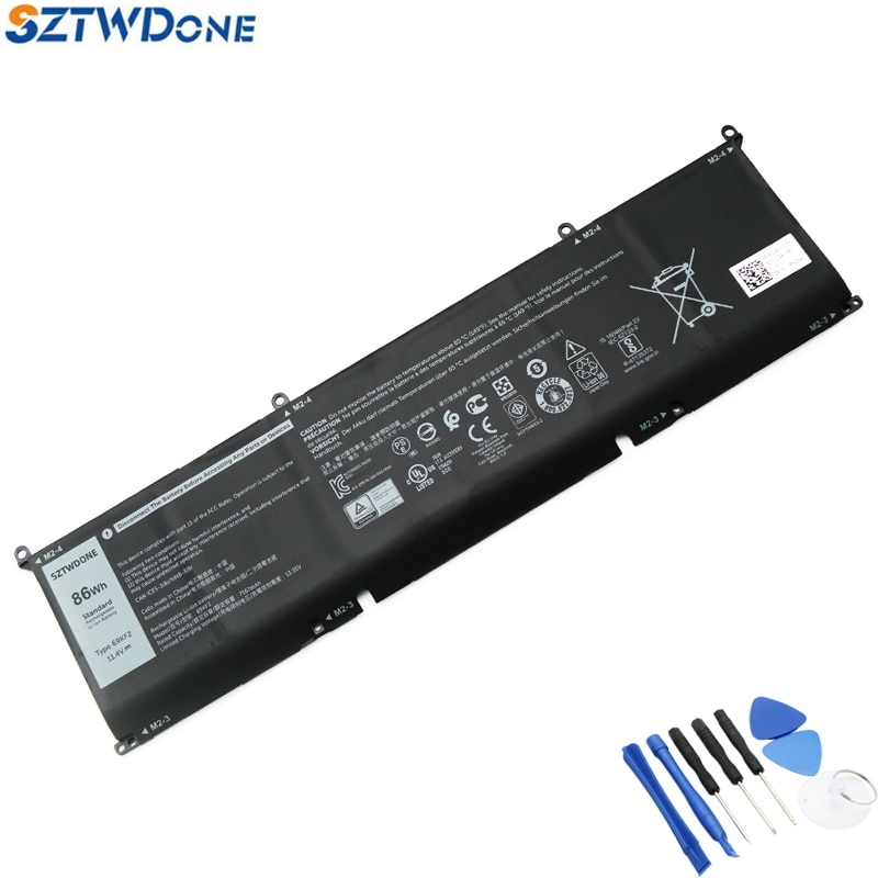 SZTWDONE 69KF2 New Laptop Battery for DELL XPS15 9500 P91F for Alienware M17 R3 2020 8FCTC DVG8M P8P