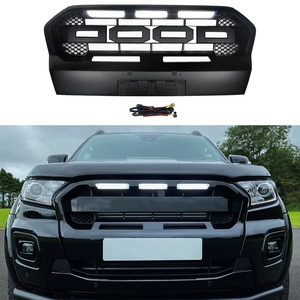 Modified For Ranger T8 PX MKIII MK3 WILDTRAK Pickup Trucks 2018 2019 2020 Front Bumper Mesh Racing Grills Grille For Trims