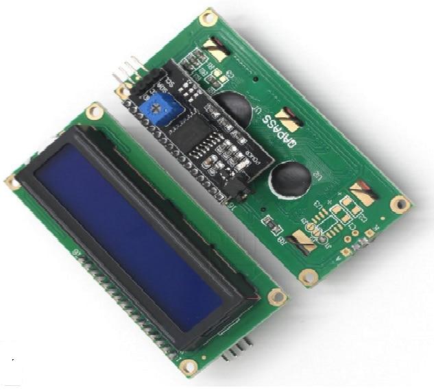 5V lcd 1602 1602A 2 шт = 1 шт 16*2 1602 16x2 lcd желтый или синий дисплей HD44780 символ lcd + 1 шт IIC/I2C/TWI/последовательный интерфейс SPI
