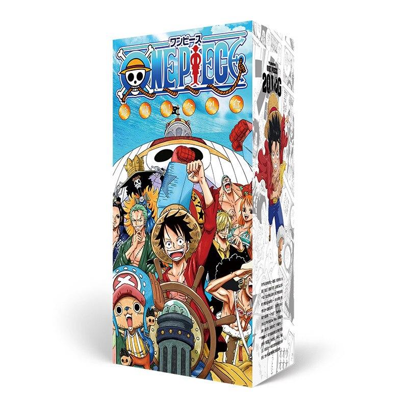Sorte saco longo caixa de presente uma peça luffy coleção caixa brinquedos incluem garrafa de cartão postal foto quadro papel cartões presente