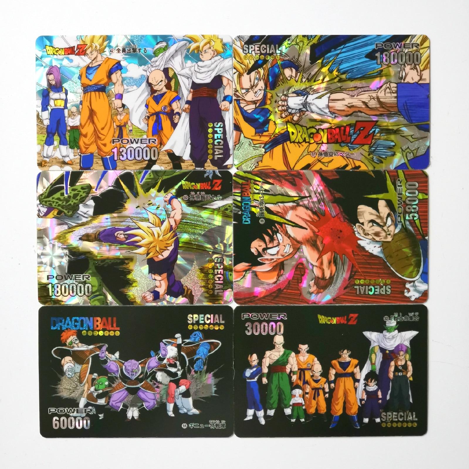 63pcs/set Super Dragon Ball Z Heroes Pasteable Battle Card Ultra Instinct Goku Vegeta Game Collection Cards