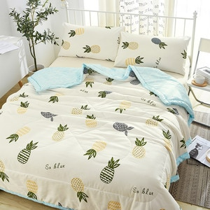 4pcs Set Summer Comfortable Quilt Washable Ice Silk Summer Air Conditioning Blanket 100% Silk Comforter Blanket Quilt Duvet