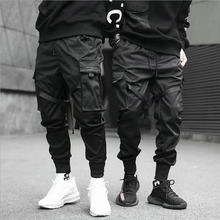 סרטי הרמון רצים גברים מטענים מכנסיים Streetwear 2021 היפ הופ מקרית כיסי כותנה מסלול מכנסיים זכר Harajuku אופנה מכנסיים