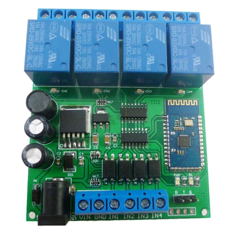 DC 5V 9V 12V 24V 4CH Bluetooth реле Android App беспроводной пульт дистанционного управления для