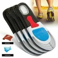 men women gel orthotic sport running insole insert shoe pad arch cushion shock absorb gel heel