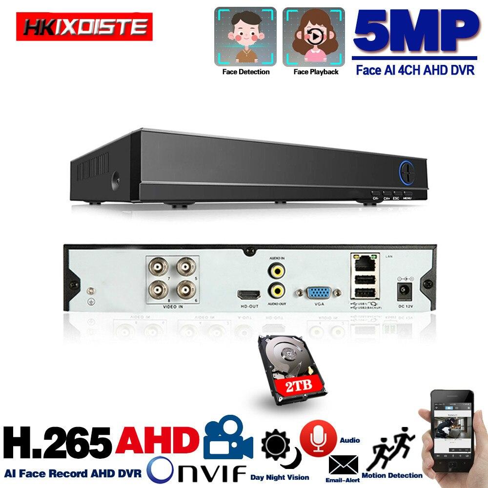 مسجل فيديو DVR عالي الدقة ، 4 قنوات ، 5 في 1 ، مسجل فيديو هجين مع 3G Wifi ، H.265 ، 5 ميجابكسل ، 4 ميجابكسل ، 1080 بكسل ، 4 قنوات ، كاميرا IP CCTV XVi TVi CVI