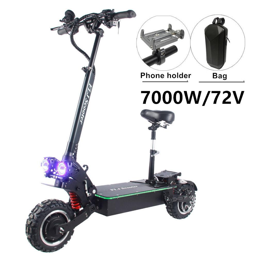 FJL-Patinete eléctrico con doble motor y pedal acrílico con luces LED, scooter...