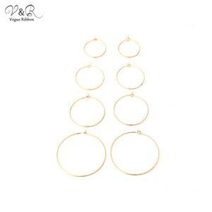 Золотые крючки для сережек, сделай сам, для изготовления сережек, 21 мм, 26 мм, 30 мм, 40 мм, крючки, Tessel, аксессуары, компоненты для ювелирных издел...
