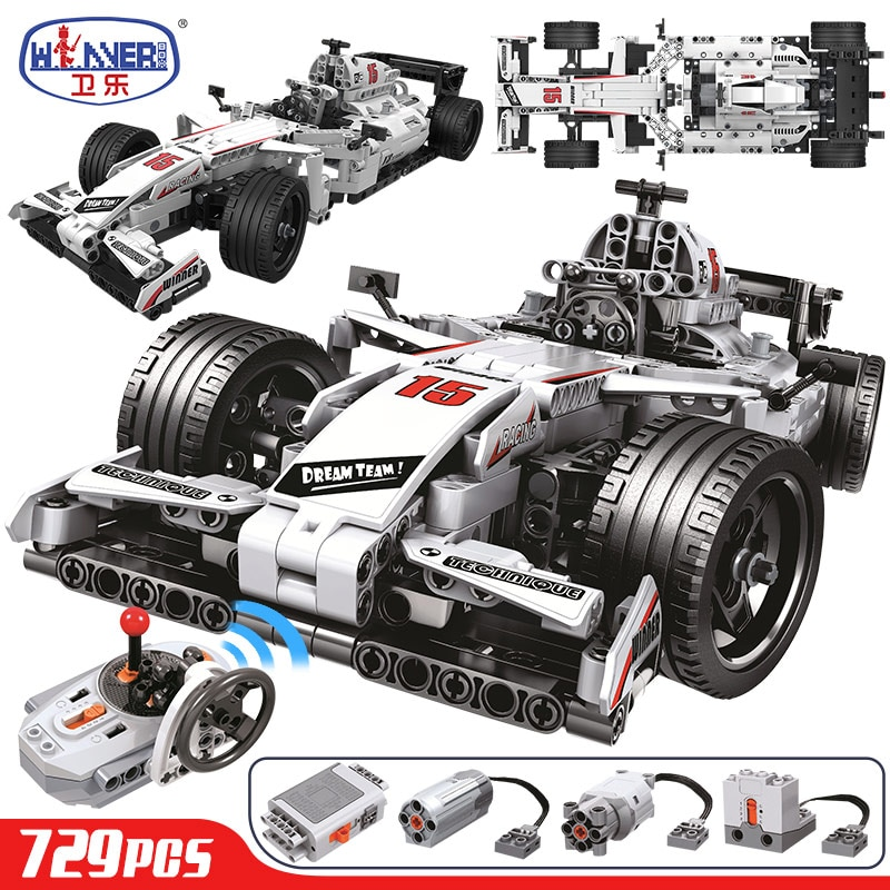 ERBO 729pcs Technical City Racing Car Remote Control RC Car Electric truck Building Blocks bricks Toys For Children Gifts Boys