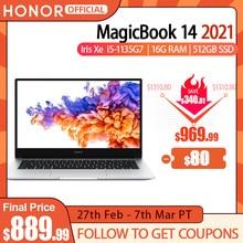 "Nouveau portable honour MagicBook 14 2021 [14 "", IPS,Intel Core i5 1135G7,16G , 512 go SSD IPS ultrabook,Win10"