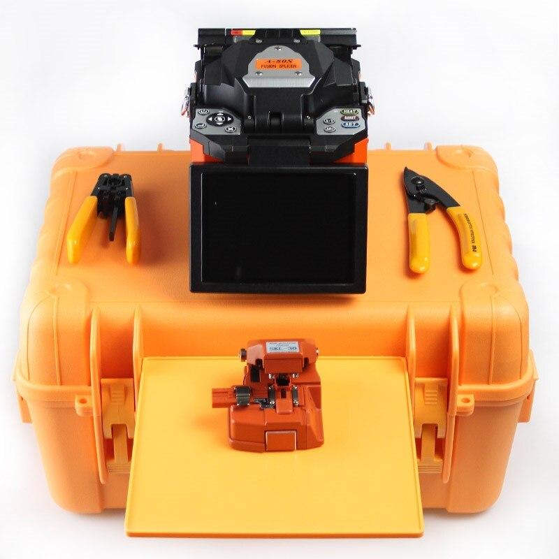 18-26s tempo de aquecimento A-80S ftth máquina de emenda de solda fibra óptica splicer fusão em kit