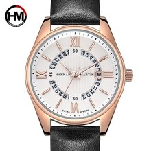 Genuine Leather Design Creative Real Calendar Quartz Watch Men Business Fashion Students Top Brand L