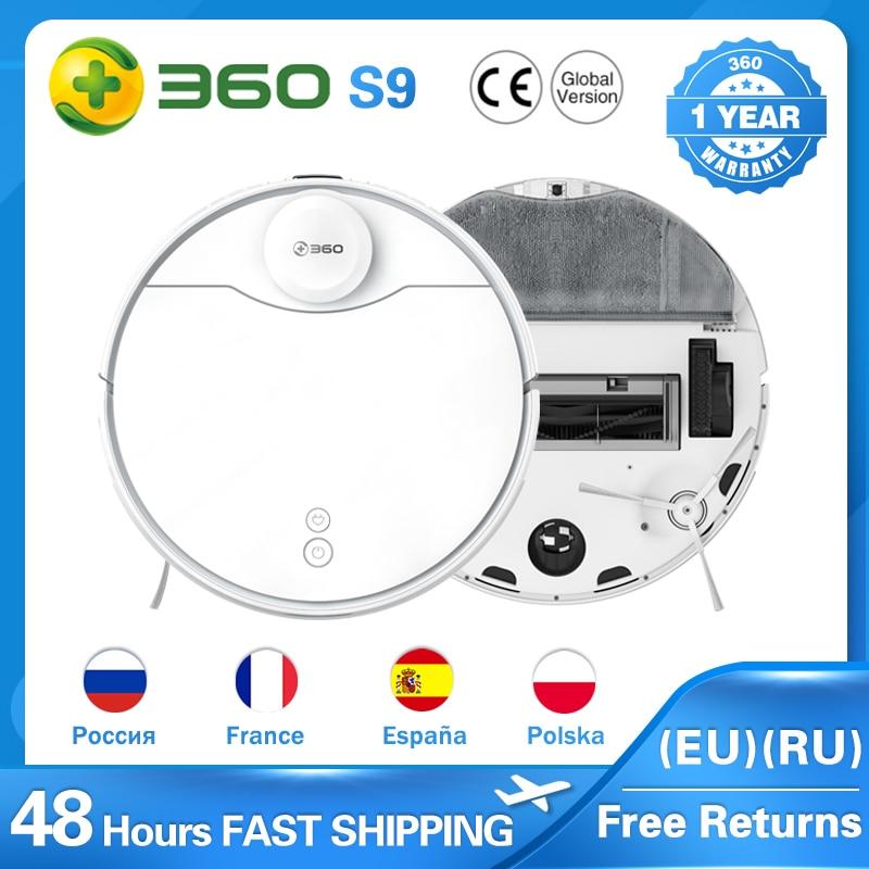 360 S9 (S6 Pro) LDS Lidar Laser Navigation Wet and Dry 5200mAh Robot Vacuum Cleaner 53dB Low Noise APP 2200Pa Suction