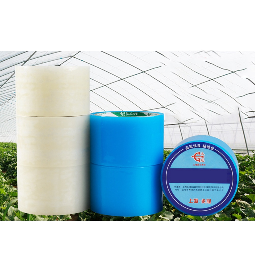"1000X6 Cm Kas Reparatie Tape 2.36 ""X 32.8ft Poly Plastic Patch Clear Outdoor Plakband Greenhouse Plastic film (Wit)"
