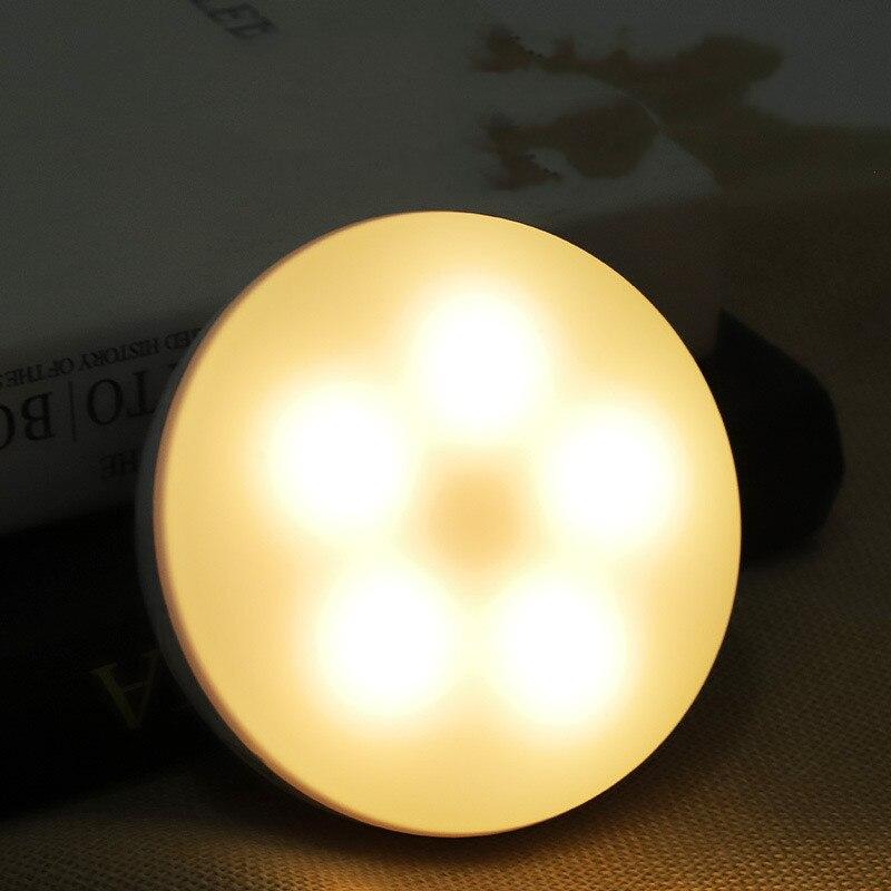 Светильник светодиодный с датчиком движения, питание от аккумулятора, USB-зарядка, ночсветильник для лестницы, чулана, комнаты, коридора