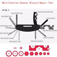 Mini outil de réparation de vélo Scooter multifonction Kit 16 en 1 pour Xiaomi M365 pour ninebot es2 tournevis pliant clé hexagonale
