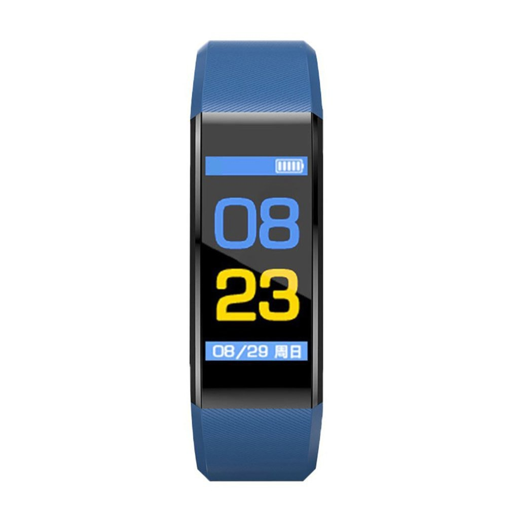 New 115PLUS Sport Fitness Pedometer Color Screen Smart Bracelet Blood Pressure Smart Wristband Men Women Watch For IOS Android