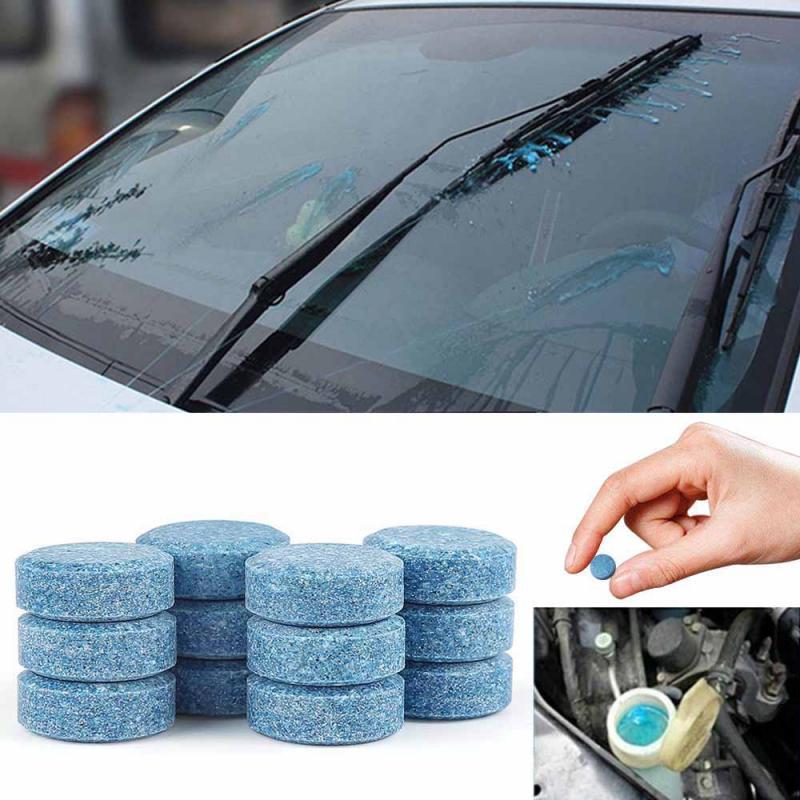 10/50/100 Uds. Tabletas efervescentes de limpiador sólido condensado de coche para ventana de coche casa de cristal Limpieza de baño lavado MANTENIMIENTO DE COCHE