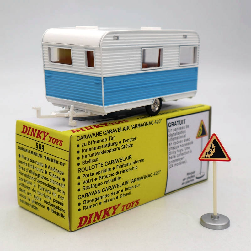 "Atlas 1/43 Dinky juguetes 564 CARAVANE CARAVELAIR ""ARMAGNAC 420"" fundición modelos de coche colección de regalo"