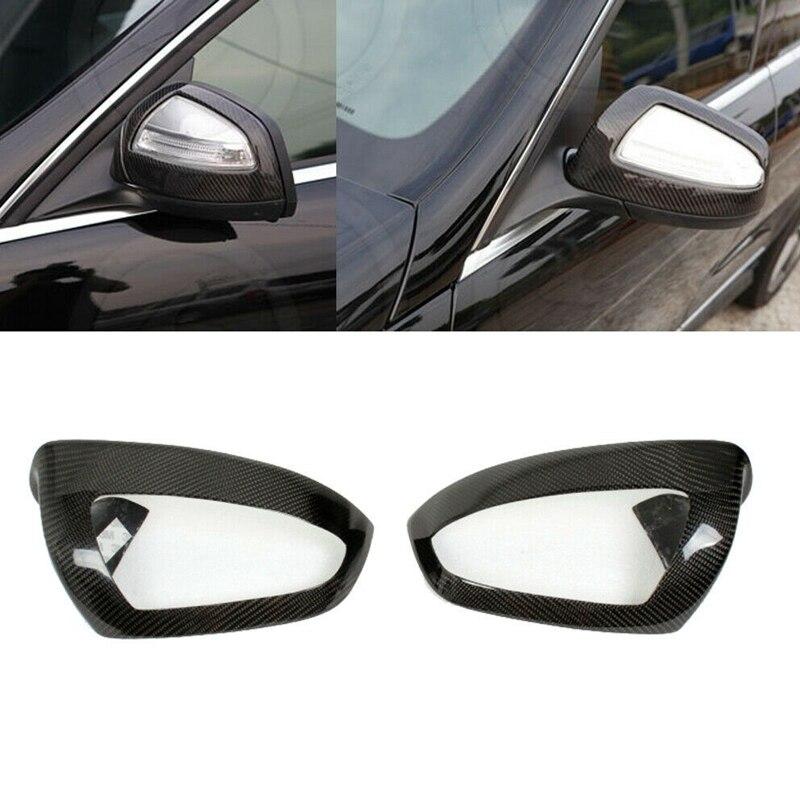 Para Mercedes Benz W204 C Class C63 C230 C300 2006-2009 fibra de carbono espejo retrovisor lateral cubierta embellecedora