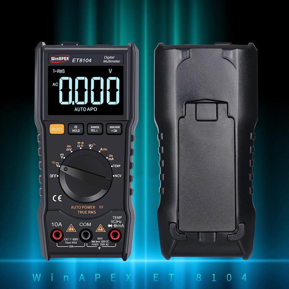 Pantalla LCD a Color portátil Auto medida multímetro AC/DC voltaje corriente capacitancia medidor de resistencia valores eficaces verdaderos 9999