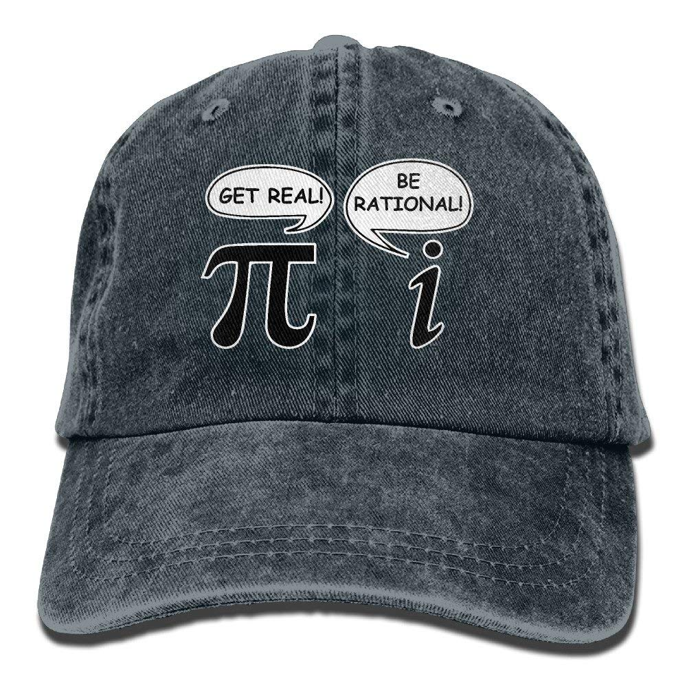 Funny Math Pi Unisex Adult Denim Washed Cowboy Trucker Hat Retro Adjustable Baseball Cap Navy