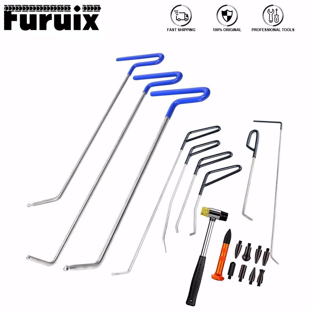 Инструменты Furuix, набор инструментов для покраски и ремонта вмятин, пружинные стальные стержни, набор инструментов для удаления вмятин с 8 на...