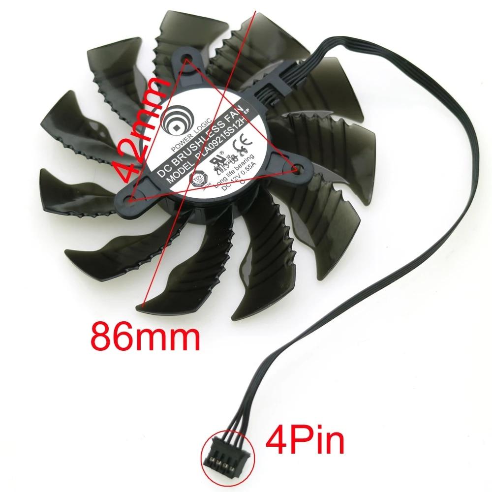 مروحة تبريد VGA لبطاقة رسومات Gigabyte GTX970 GTX960, تيار متردد 12 فولت ، 0.55 أمبير ، 4 دبابيس 86 مللي متر