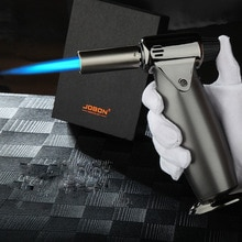 Cocina BBQ encendedor de Gas de alta gama ignífugo butano Turbo encendedores accesorios para fumar cigarro encendedor para cigarrillos Gadgets para hombres