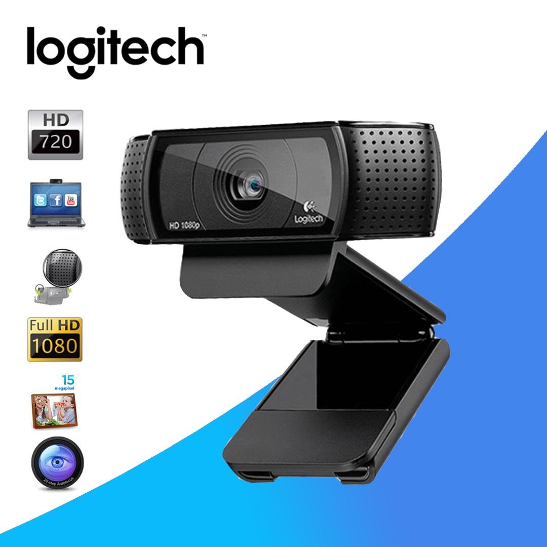 جديد حار لوجيتك الأصلي C920E C920 كاميرا بـ Usb HD الذكية 1080p لايف مرساة كاميرا ويب محمول مكتب اجتماع الفيديو Logi العلامة التجارية HD
