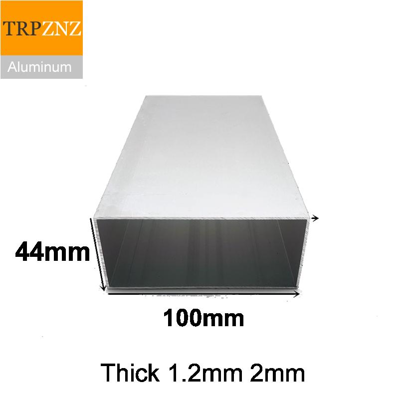 44x100 مللي متر ، سميكة 1.2mm2mm ، مستطيلة الألومنيوم أنبوب الشخصي ، 6063 الألومنيوم أنبوب مربع ، الألومنيوم الشخصي للزينة
